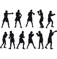 Boxing kids vector