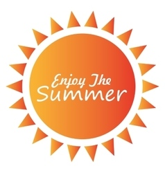 Summer sun cartoon vector