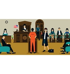 Court Of Justice vector image