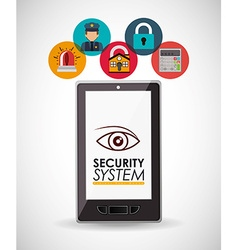 Security systems design vector