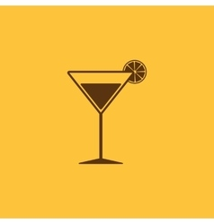 The cocktail icon alcohol symbol flat vector