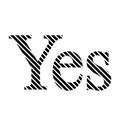 Yes sign on white vector