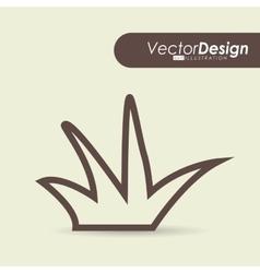 Grass drawn design vector