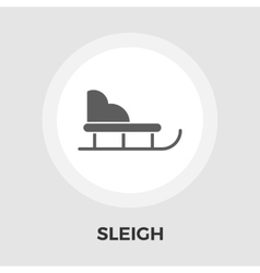 Sleigh flat icon vector