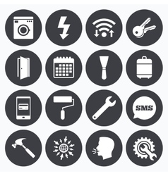 Repair construction icons electricity keys vector