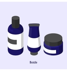 Bottles for shampoo in a beauty salon isometric vector