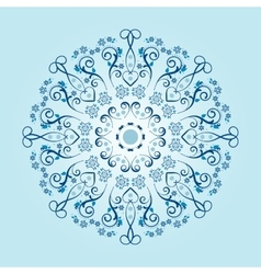 Mandala with floral elements vector