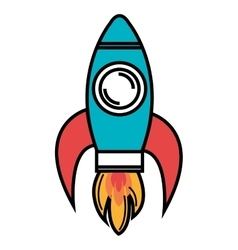 Rocket spaceship isolated icon design vector
