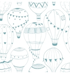 air baloon pattern vector image vector image