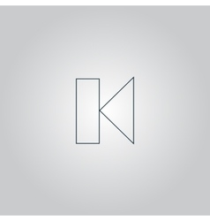 Back Track arrow Media player control button vector image