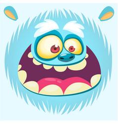 Bigfoot snowman face cartoon mask vector