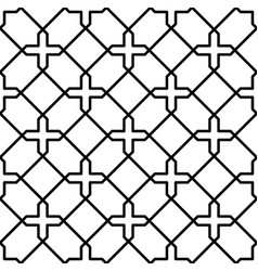 Black and white geometric seamless pattern in vector