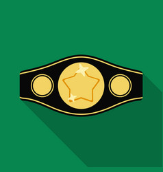 Boxing championship belt icon in flate style vector
