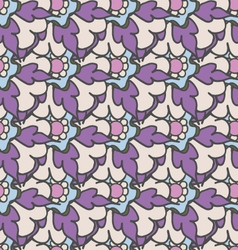 Bright purple hand drawn seamless pattern vector