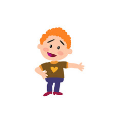 cartoon character boy showing vector image vector image
