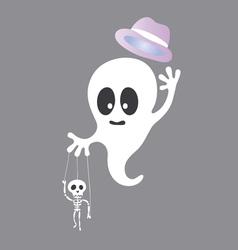 Cute ghost cartoon vector