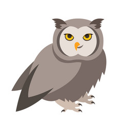 Cute smiling owl cartoon vector