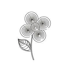 Flower decoration design sketch vector