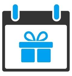 Gift box calendar day toolbar icon vector