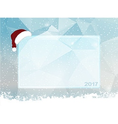 Ice snow and santa hat copy space vector
