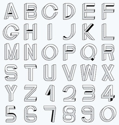 Impossible font set vector