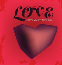 Love Valentine s day vector image