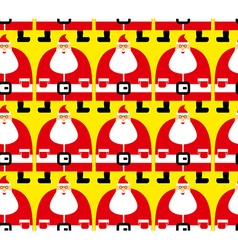 Many Santa Christmas seamless pattern Fabric vector image