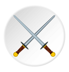 Medieval swords icon circle vector