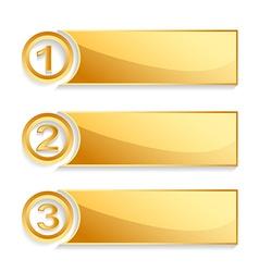 modern golden position banner set vector image vector image