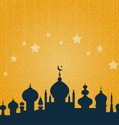Mosque with ornament vector