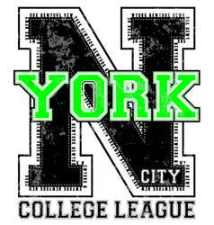 Newyork athletic graphic design vector