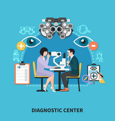 Oculist diagnostic center poster vector