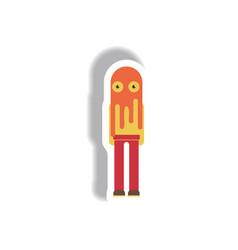 Paper sticker halloween icon vector