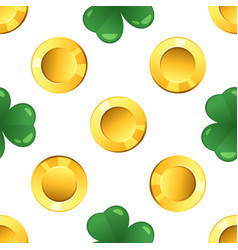 pattern with golden coins vector image vector image