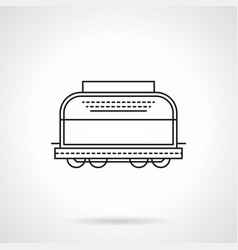 refrigerated boxcar flat line icon vector image vector image