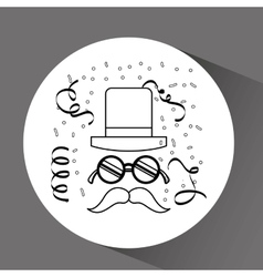 retro party icon design vector image