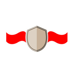 shield and ribbon red sign vector image vector image
