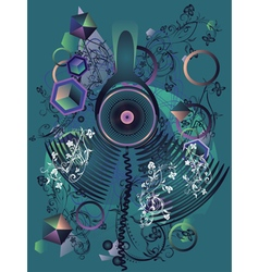 Stylized music poster4 vector