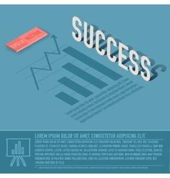 success graph business background concept d vector image vector image