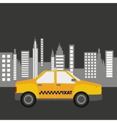 Taxi car city bakcground graphic vector