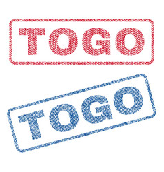 Togo textile stamps vector