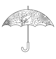 Umbrella coloring vector image vector image