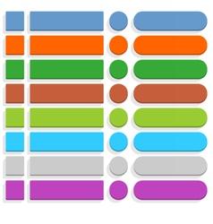 Flat blank web button internet icon set vector image