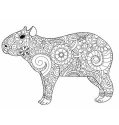 Armadillo animal cartoon coloring page Royalty Free Vector