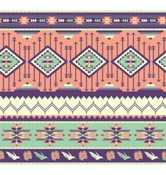 Aztecs seamless pattern on pink color vector