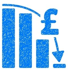 Pound financial epic fail grainy texture icon vector