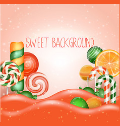 Candy land background vector