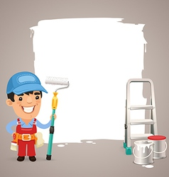 Male painter with back vector