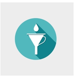 Funnel with drop vector