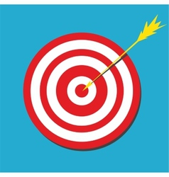 Red darts target aim vector